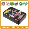 Custom Rectangular Cosmetic Tin Box for Lipstick Lip Balm Container