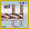 Jinoo Solid CNC Carbide Flat End Mill Helix 45 CNC Cutter for Steel
