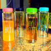 Fashion Design Multicolor Borosilicate Glass Water Bottle Sport Bottle Portable Cup