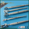 Stainless Steel Pipe Type Jaw / Swage Turnbuckle