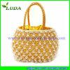 Luda 2015 Bead Decoration Elegant Wheat Straw Handbag