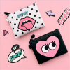 Korea Creative Cute Purse Makeup Bag Mouth Red Small Storage Bag (GB#A10-1-003)