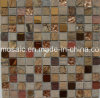 Classicial Rainforest Natural Stone, Glass and Stainless Mosaic