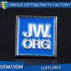 Zhongshan Cheapest Bulk Jw. Org Blue Metal Cufflinks for Shirt