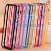 Clear Bumper Middle Frame TPU Silicone Case for iPhone 6 with Metal Volume Button