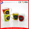 White Colored Mug with 4 Sunflower Designs