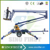 12m 14m Portable Light Towable Trailed Spider Boom Lift Trcuk Hot Sale