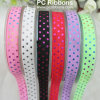 Colorful 16mm Fold Over Elastic Dots Printed Elastic Ribbon