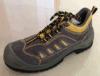Suede Leather Upper Density Sole Steel Toe Cap Safety Shoes