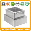 Metal Gift Packaging Square Battery Tin Box with PVC Window