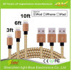 3A Fast Charging Nylon USB Cable with Metal Plug