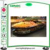 Oval Wood Metal Vegetable Fruit Display Rack