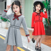 Girls Fashion Gorgeous Waist Round Neck Long Sleeve Dress