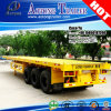 Long Vehicle 12.5 Meters 40ft Container Flatbed Trailer