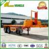 2 Axles Tipping Flatbed Type Container Semi Trailer
