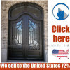 Cheap Price Steel Entrance Wrought Iron Door Gate