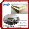 White Spray Coating Tissue Faced Rock Wool Ceiling Panel