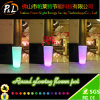 Wedding Party Decoration Plastic Round Color Changing LED Planter