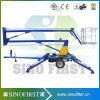 Three Wheels Street Light Movable Trailed Articulated Boom