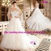 Beautiful Princess Cap Sleeve Dress Wedding with Chapel Train