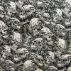 Kingtop 1m Width Skulls and Flame Design Hydro Dipping Liquid Image Film Wdf9013