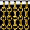 Golden Alumium Chain Link Screen