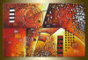 Modern Canvas Art House Painting Abstract Painting for Home Decor (XD1-044)