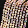 Point Back Rhinestone Cup Chain Rhinestone Crystal Chain (TCS-SS10 crystal ab)