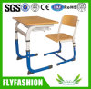 Wooden Classroom Furniture Single Desk and Chair for Studets (SF-52S)