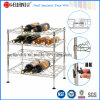 Metal 4 Tiers Adjustable Chrome Flat Wine Rack (WR453047C4R)