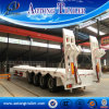 4 Axles Heavy Duty Lowbed Cargo Semi Truck Trailer