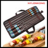 Portable Outdoor Camping BBQ Tool Sets Barbecue Stainless Steel Skewer Tool Sets