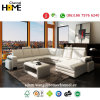Modern Style Corner Sectional Sofa, White Italy Leather (HC1006)