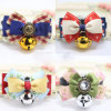 Cute Design Bell Dog Bowtie Collars Pet Necklaces
