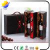Custom Printing Logo PU Leather Packaging Wine Box
