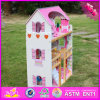 2016 New Design Beautiful Kids Wooden Dollhouse Toys W06A163