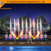 Urban Construction LED Light Decorative Music Changeable Fountain
