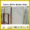 Hot Product Castro White Marble Polished Slabs for Wall / Countertops