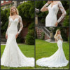 Long Sleeves Bridal Gowns Custom Muslim Mermaid Lace Wedding Dress M2040