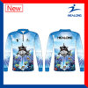 Healong Blue Color Any Pattern Sublimation Ultraviolet-Proof functionFishing Jerseys