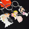 Custom Creative Wedding Theme Promotional Keychains
