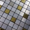 Aluminum Plate Mosaic Background Wall Puzzle Glass Tile Adhesive Ceramic Tile Stickers Bathroom ...