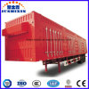 Enclosed Box Trailer Tandem Axle Coal Carrying Heavy Tractor Truck Cargo Utility Semi-Trailer