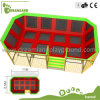 China Manufacture Used Indoor Trampoline Park with Basketball Hoop
