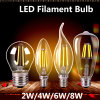 Edison Retro Glass E27 LED Filament Bulb E14 Candle COB