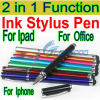 Multi Function Metal Stylus Touch Screen Pen for iPhone 4 4s 5 for iPod and for iPad 2 3 4