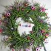 Je185 Spring Colorful Handmade Foam & Paper Flower Wreath Artificial Flowers