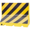 Yellow and Black Plastic Road Safety Water Filled Barrier