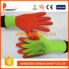 Ddsafety 2017 9 S Flourescent 5 Yarns T/C Shell Orange Latex Coating Crinkle Finish