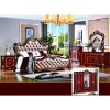Double Bed for Antique Bedroom Furniture (W813A)